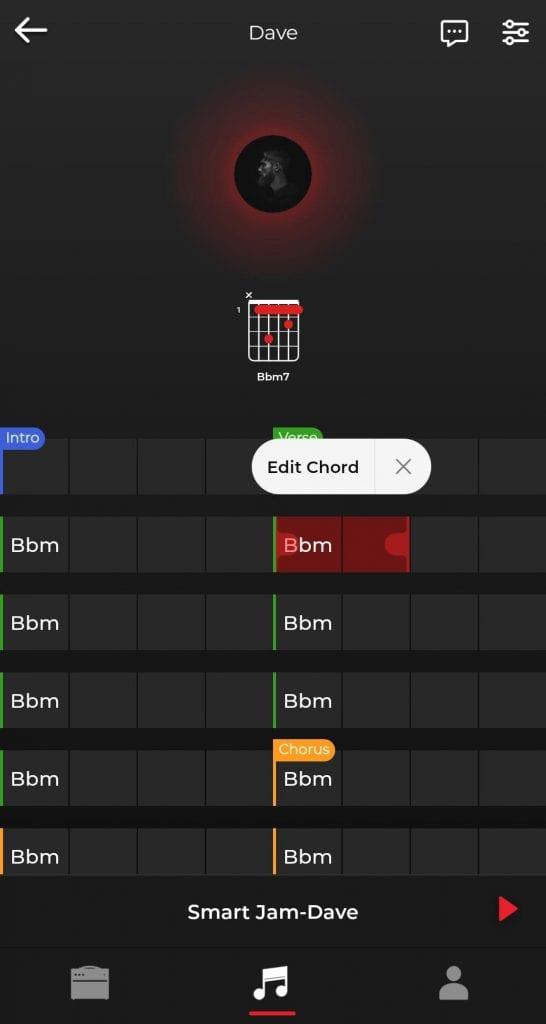 Création de la grille de jeu et de la grille d'accord avec les différentes parties, intro, verse, chorus, bridge